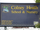 Colney Heath School sign